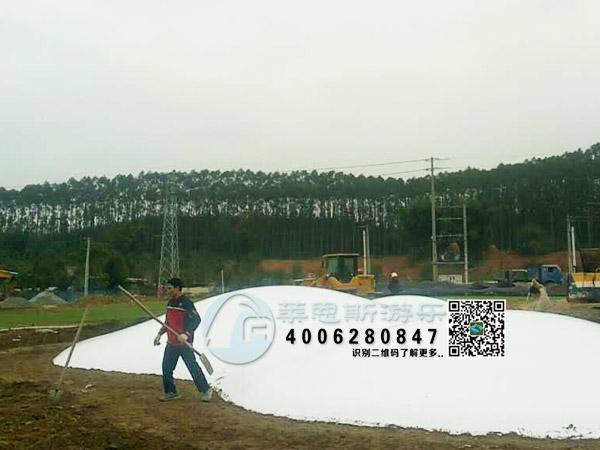蹦蹦云跳跳项目施工现场